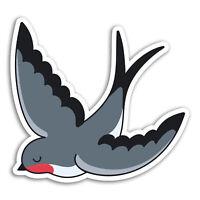 2 x 10cm Swallow Bird Vinyl Stickers - Tattoo Fun Sticker Laptop Luggage #18116