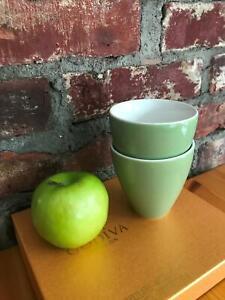 Set of 2 Sage Green ZERO JAPAN Saki Tea Cups Ceramic Porcelain