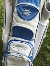 Callaway Ladies Solaire 14-way Cart Bag Light-weight White and Blue