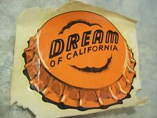 Vintage Rare 1946 Dream Soda Decal Sign by Vitachrome Inc. Made in USA