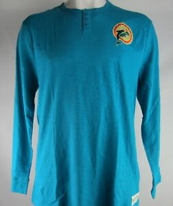 Miami Dolphins NFL Mitchell and Ness Men's Long Sleeve Shirt