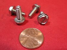 18-8 Stainless Hex Washer Head Slotted Machine Screw 10-24 x 1/2