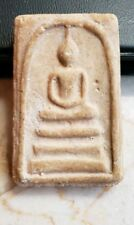 SOMDEJ THAI AMULET WITH TEMPLE STAMP ON REVERSE SIDE