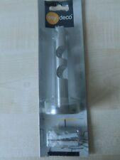 my deco Träger 20mm Edelstahloptik 13cm Gardinenstange MD 63235 - 3 führig