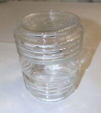 Vintage Jar Light Clear Glass Globe Shade, Outdoor Bath Kitchen Fits 3 1/4 mount