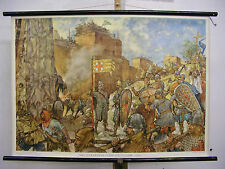 School Wall Mural Wall Picture Image Crusaders before Jerusalem in the year 1099 100x70