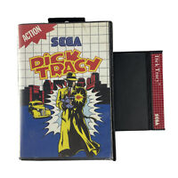 Sega Master System Game DICK TRACY In Cracked Case No Manual OZI SOFT