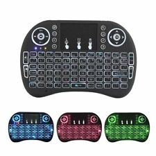 i8 Mini Wireless Keyboard 2.4Ghz Colorful Backlight Air Mouse with Touchpad