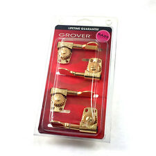 Grover Gold Titan Heavy Duty 4 Inline Bass Guitar Tuners Machine Heads 145G4