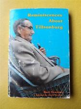 BOOK REMINISENCES ABOUT TILLSONBURG CANADA HISTORY BERT NEWMAN SIGNED 1986
