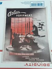 1936 Vintage Atlas Shop Equipment Machine Tools Lathes Catalog ~Silver Anniv.