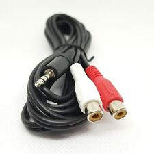 3.5mm Stereo Male Plug to 2 RCA Female Jack Y Splitter Audio Cable Cord 3m Aux