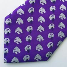 Kansas State Wildcats Football Purple Tie by Rivetz of Boston