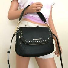 NWT Michael Kors Aria Black Leather Studded Medium Shoulder Crossbody Bag Purse