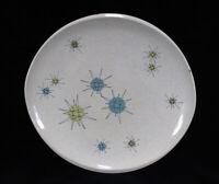 FRANCISCAN ATOMIC STARBURST 11 in DINNER PLATE Space Age Vintage MCM