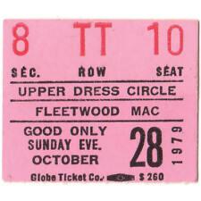 Fleetwood Mac Concert Ticket Stub Salt Lake City Utah 10/28/79 Tusk Tour Rare