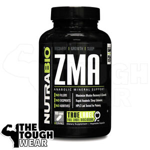 NUTRABIO - ZMA 180caps - You Grow As You Sleep! Improve Muscle Strength and Size