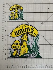 WMMS PRE BUZZARD LOT OF 2 LARGE SIZE PATCHES / CLEVELAND ROCKS / 7.5 X 7