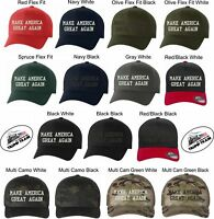 Donald Trump Hat - Make America Great Again Hat - Flex Fit with FREE TRUMP DECAL