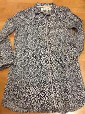 Victoria's Secret Flannel Leopard Dreamer ButtonDown Nightshirt Pjs Nightgown XS