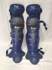 Riddell Lg2-12 Catchers/Umpire Adult Size Shin Guards Blue
