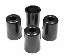 4 LARGE #3  ROUND RUBBER FEET  2.255 H X 1.668 D  AMPS, RADIO CASES - FREE S&H