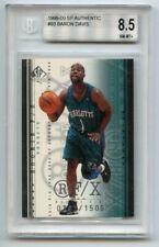 Baron Davis 1999-00 SP Authentic #93 Rookie F/X /1500 BGS 8.5 TH882