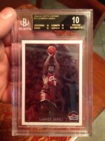 BLACK LABEL BGS 10 PRISTINE 2003 TOPPS CHROME LEBRON JAMES RC SLAVIK COLLECTION