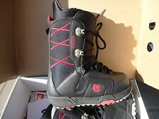 BURTON WOMEN'S SNOWBOARD BOOTS WMS MOTO NEW IN BOX BLACK RED SIZE 4 US 71