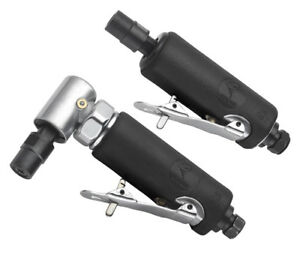 """ATD 2pc 1/4"""" Straight and Right Angle Air Die Grinder Set #2122"""