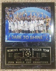 2019 U.S. WOMENS SOCCER TEAM WORLD CUP CHAMPIONSHIP 12X15 PLAQUE