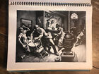 """Print """"Frankie and Johnny"""" Thomas Hart Benton from book of American prints 1939"""