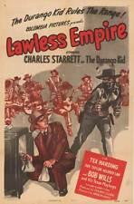 LAWLESS EMPIRE orig 1945 movie poster CHARLES STARRETT/BOB WILLS TEXAS PLAYBOYS