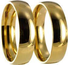 2 Edelstahl L316 Ringe gold Verlobungsringe Trauringe Eheringe mit Gravur 20P061