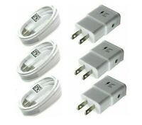 3PCS Fast Charger Wall Adapter + Type C Charging Cable For Samsung LG Cell Phone