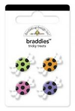 Doodlebug Design HALLOWEEN TRICKY TREATS CANDY Braddies Brads Scrapbooking