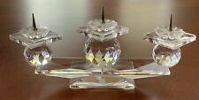 Swarovski Crystal 3 Light European Pin Style Candleholder 7600Nr 107 *N9 Box*