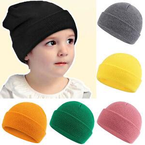 Beanie Hats Boys Girls Knitted Hat Kids Winter Warm Beanies Unisex Thermal Hat