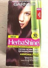 (1)Garnier HerbaShine Color Creme w/ Bamboo Hair Color 426 Dark Burgundy