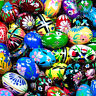 Assorted Easter Eggs Pisanki Pysanky Hand Painted Wooden Polish Egg  Decoration