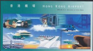 Hong Kong China # 821a  MINT NH S/S souvenir sheet 1998 New Airport Plane Train