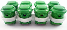8 x 28mm Round Convex Curved Arcade Push Buttons & Microswitches (Green) - MAME