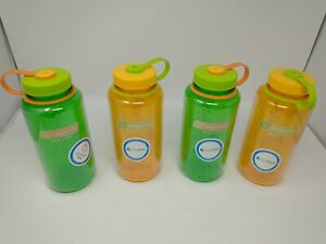 Nalgene Wide Mouth Water Bottle: 32oz, Melon Ball and Clementine lot of 4