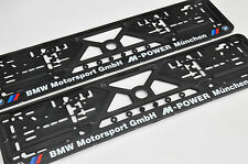 2x CAR LICENCE NUMBER PLATE SURROUNDS HOLDER FRAMES for BMW M-POWER