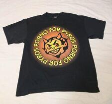 Vintage Original Porno for Pyros 1990s T-Shirt Size XL in Black