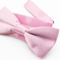 Noeud Papillon pour Enfant en tissu satin Rose clair - Children Bow Tie Pink