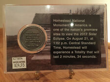 Homestead National Monument 08/21/17 Total Solar Eclipse Collectors Coin & Stamp
