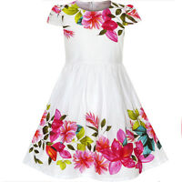 Sunny Fashion Girls Dress Flower Print Cap Sleeve Summer Sundress Age 2-6 Years