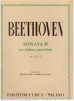 Beethoven: Sonata Für Violine E Klavier N.2 Op.12 - Curci