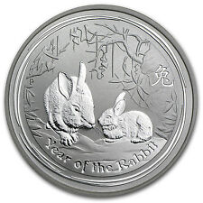 2011 Australia 1/2 oz Silver Year of the Rabbit BU - SKU #59016